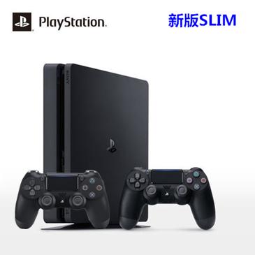 PlayStation®4 电脑娱乐机 PS4新款主机 国行 黑色新款SLIM版500G 双手柄套装