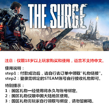 迸发 The Surge PC版 国区礼物(标准版)