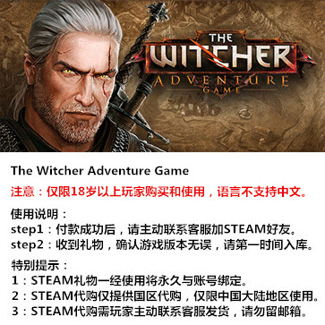 巫师:冒险游戏 PC版 STEAM国区代购(标准版)
