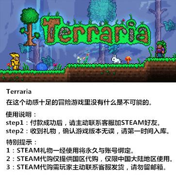 泰拉瑞亚 PC版 中文 STEAM国区代购(标准版)