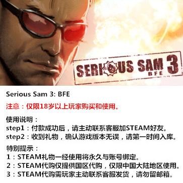 英雄萨姆3 PC版 中文 STEAM国区代购(标准版)