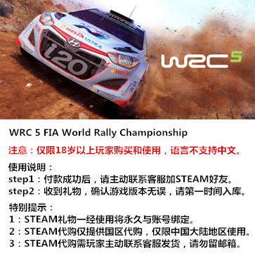 世界汽车拉力锦标赛5 WRC5 PC版 大陆版key