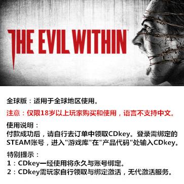 恶灵附身 PC版 全球版key