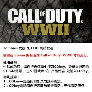 使命召唤14:二战 PC版 中文 Zombies weapon DLC