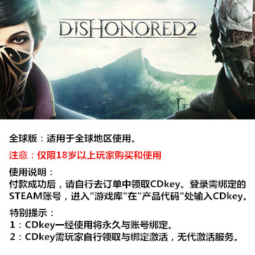 羞辱2 PC版 中文 全球版key