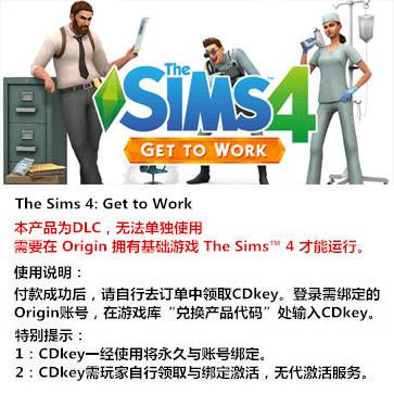 模拟人生4:来去上班 PC版 全球版key