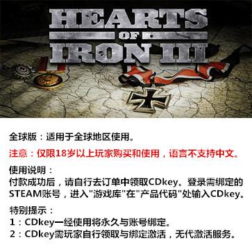 钢铁雄心3 PC版 全球版key