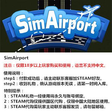 模拟机场 PC版 STEAM国区代购(标准版)