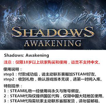 暗影:觉醒 PC版 中文 大陆版key