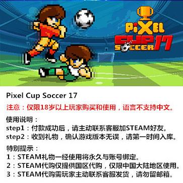像素足球杯17 PC版 STEAM国区代购(标准版)
