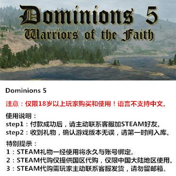 领土之战5:勇士信仰 PC版 STEAM国区代购(标准版)