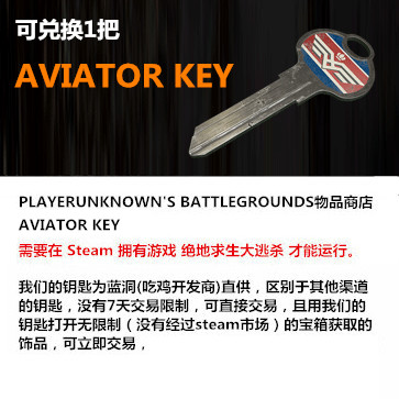 绝地求生大逃杀 PC版 飞行员Key