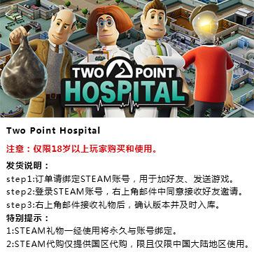 双点医院 PC版 中文 STEAM国区代购(标准版)