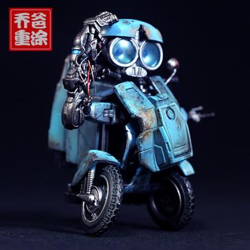 乔爸重涂 变形金刚 电影5 小灵通 小摩 小摩托车D级 Sqweeks 3C
