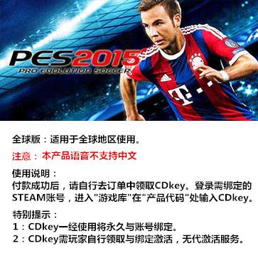 实况足球2015 PES2015 PC版 全球版key