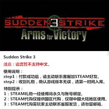 突袭3 PC版 STEAM国区代购(标准版)