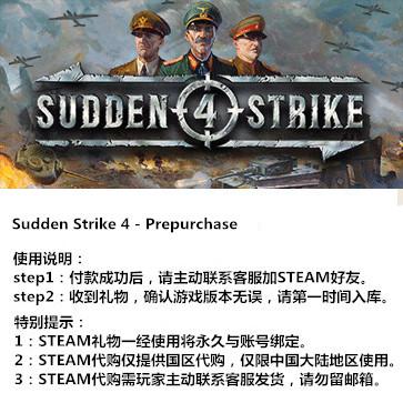 突袭4 PC版 STEAM国区代购(标准版)