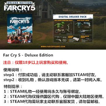 孤岛惊魂5 PC版 中文 STEAM国区代购(豪华版)