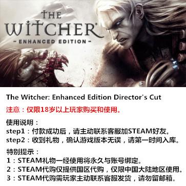 巫师加强版导演剪辑版 PC版 中文 STEAM国区代购(标准版)