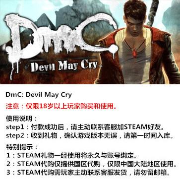 DMC:鬼泣 PC版 STEAM国区代购(标准版)