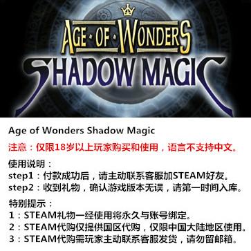 奇迹时代:暗影魔法 PC版 STEAM国区代购(标准版)