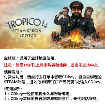 海岛大亨4 PC版 全球版key