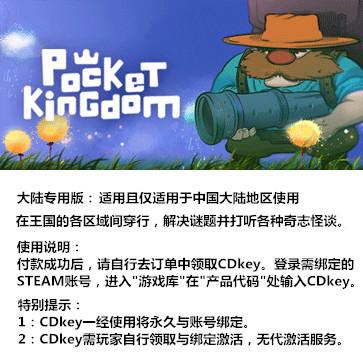 口袋王国 PC版 大陆版key