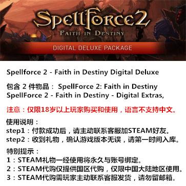咒语力量2:命运信仰 PC版 STEAM国区代购(豪华版)