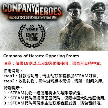 英雄连之抵抗前线 PC版 STEAM国区代购(标准版)