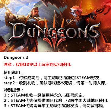 地下城3 PC版 中文 STEAM国区代购(标准版)