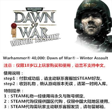 战锤40K:战争黎明之冬季攻势 PC版 STEAM国区代购(标准版)