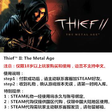 神偷2:金属时代 PC版 STEAM国区代购(标准版)