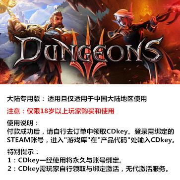 地下城3 PC版 中文 大陆版key