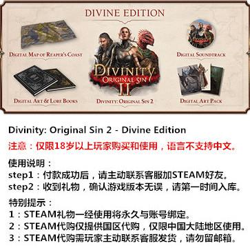 神界:原罪2 PC版 STEAM国区代购(豪华版)