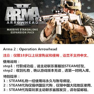武装突袭2:箭头行动 PC版 STEAM国区代购(标准版)
