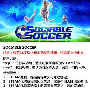 交际足球 PC版 STEAM国区代购(标准版)