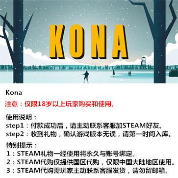 科纳风暴 PC版 中文 STEAM国区代购(标准版)