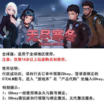 无尽寒冬 PC版 中文 全球版key