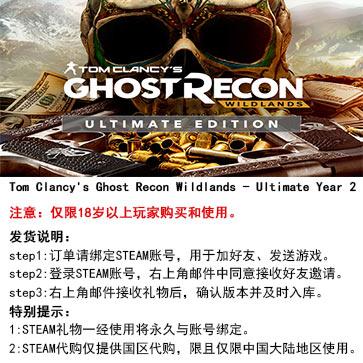 幽灵行动:荒野 PC版 中文 STEAM国区代购(终极版)