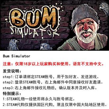 流浪汉模拟器 PC版 STEAM国区代购(标准版)