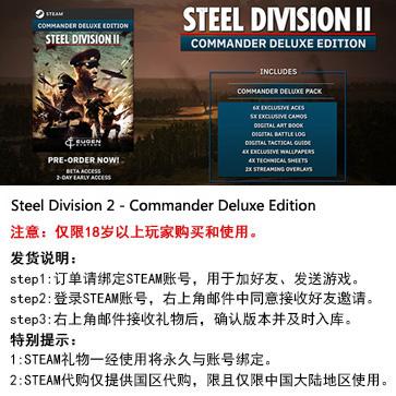 钢铁之师2 PC版 中文 STEAM代购(Commander)