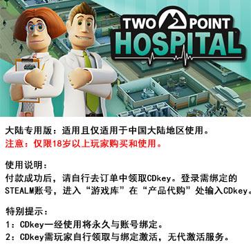 双点医院 PC版 中文 大陆版key