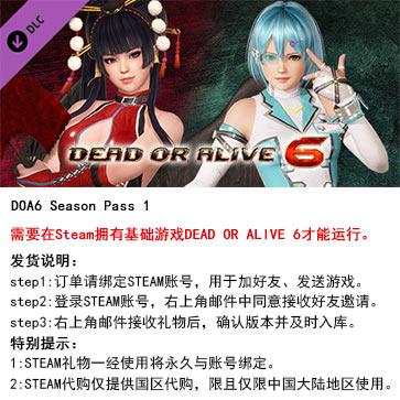 死或生6 PC版 中文 STEAM国区代购(季票)