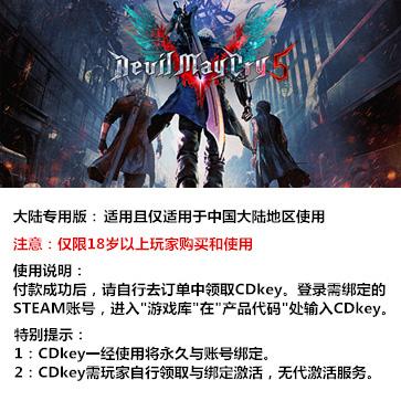 鬼泣5 PC版 中文 大陆版key