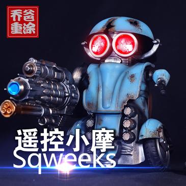 乔爸重涂 变形金刚5 电影 遥控机器人 小摩托 孩之宝 超大 改色