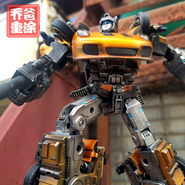 乔爸重涂 变形金刚 Generation toysMP比例 爵士 保时捷 金属上色
