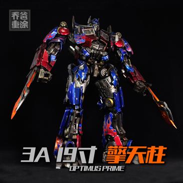 乔爸重涂 3A 19寸 变形金刚 擎天柱 上色改色润色 Optimus Prime