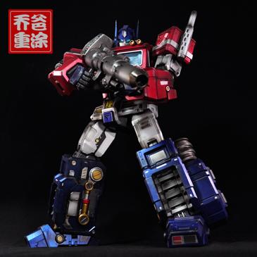 乔爸重涂 变形金刚 G1 擎天柱  超大18寸 MAS-01动画  雕像